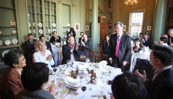 Dr. Justin Chiu celebrated at the University Club in Toronto
