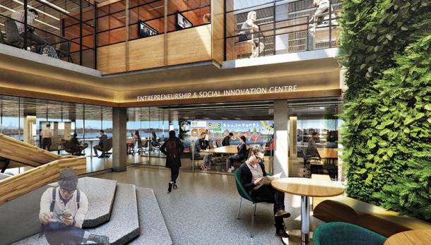 Photo representing possible renovation of Bata Library
