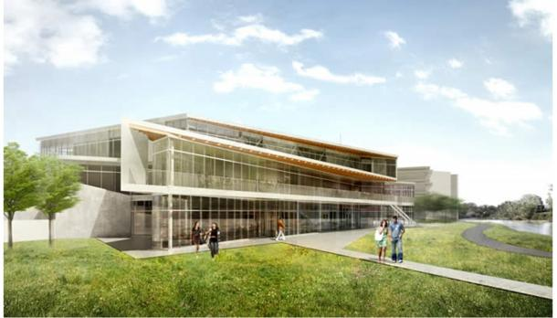 Artist rendering of student centre