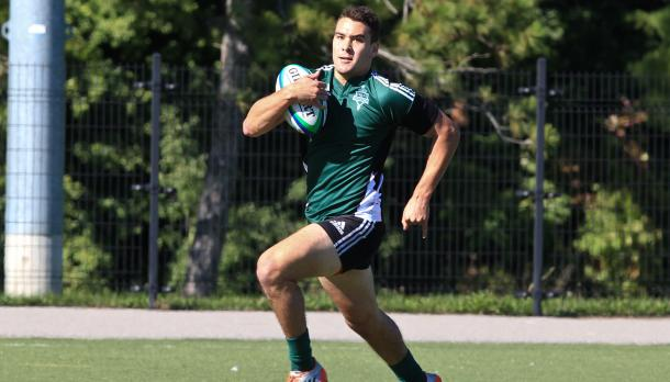 Trent Rugby player running with the ball