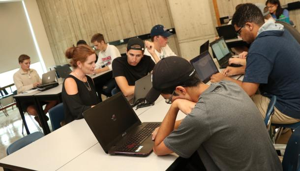 students gather for the bridge program to prepare them for college