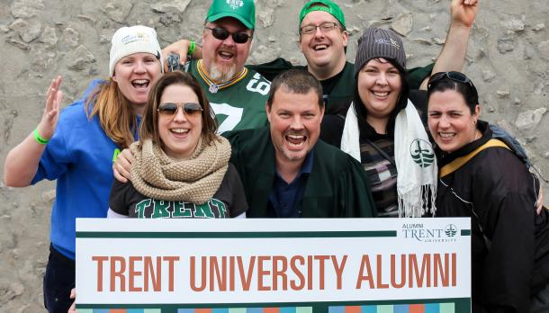 Group of smiling Trent alum