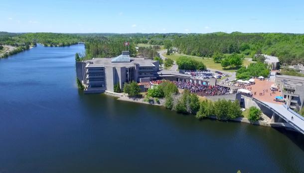 Bata Library, Symons Campus, Otonabee River