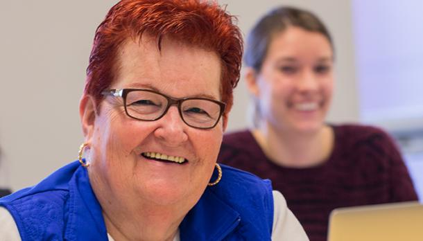 Two women in classroom