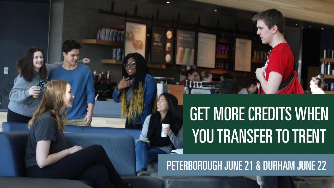 Get more credits when you transfer to Trent
