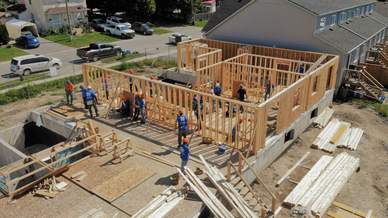 building community durham gta staff participate in habitat for