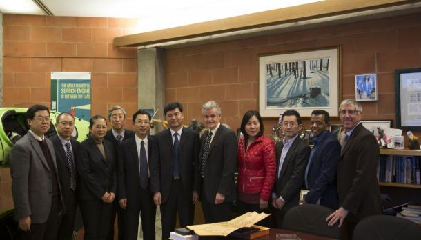 Delegation from Tianjin University of Commerce at Trent University to mark official signing of agreement