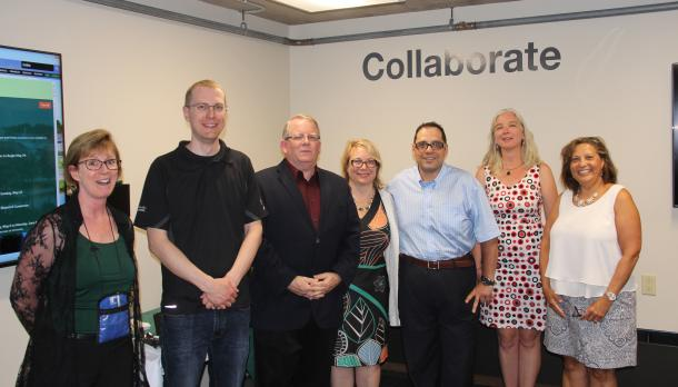 Staff Launching Collaborative space at Bata library