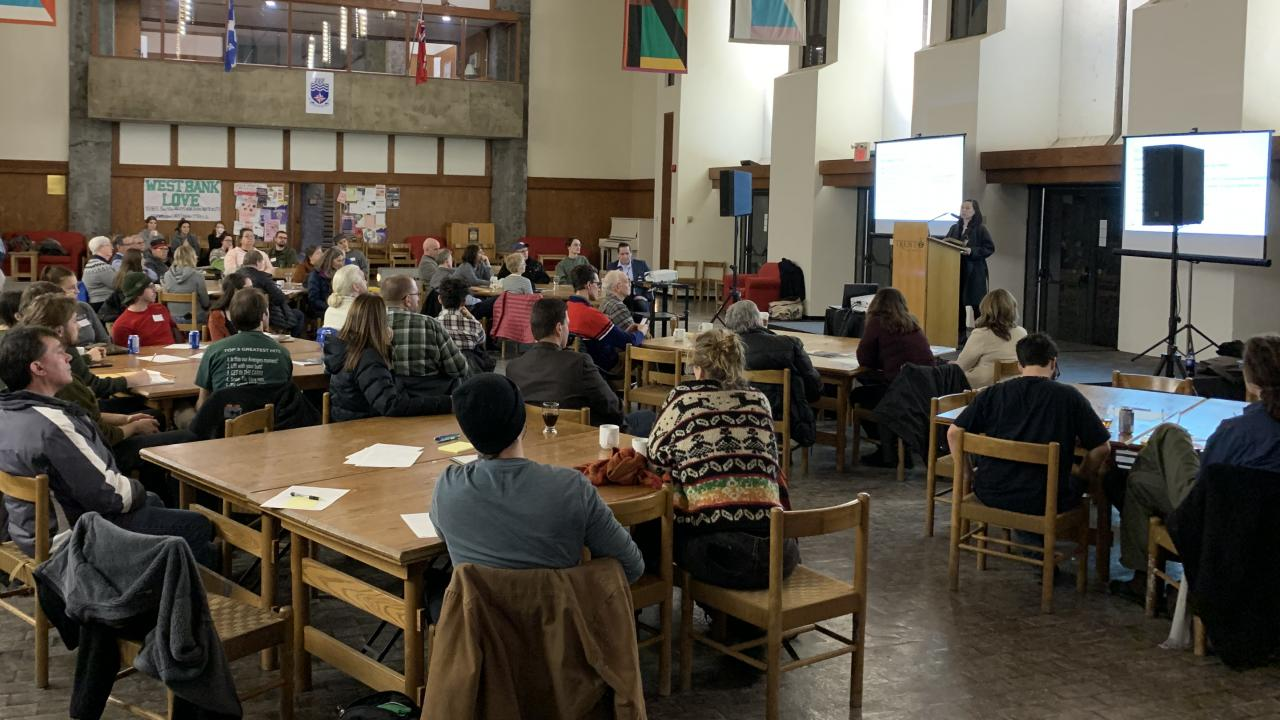 Full house at the community engagement session in the Great Hall