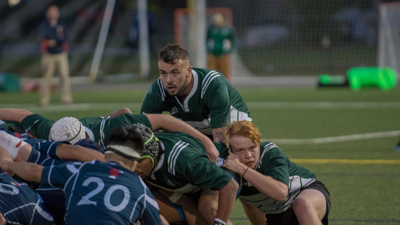 Trent Men's Rugby takes on U of T in a recent match.