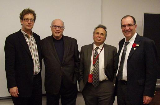 Mark Hansen, John Fekete, Jonathan Bordo (CUST Ph.D. Director), and Steven Franklin