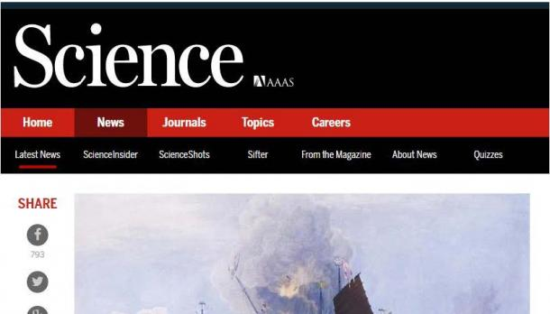 Screenshot of Article on Science Magazine
