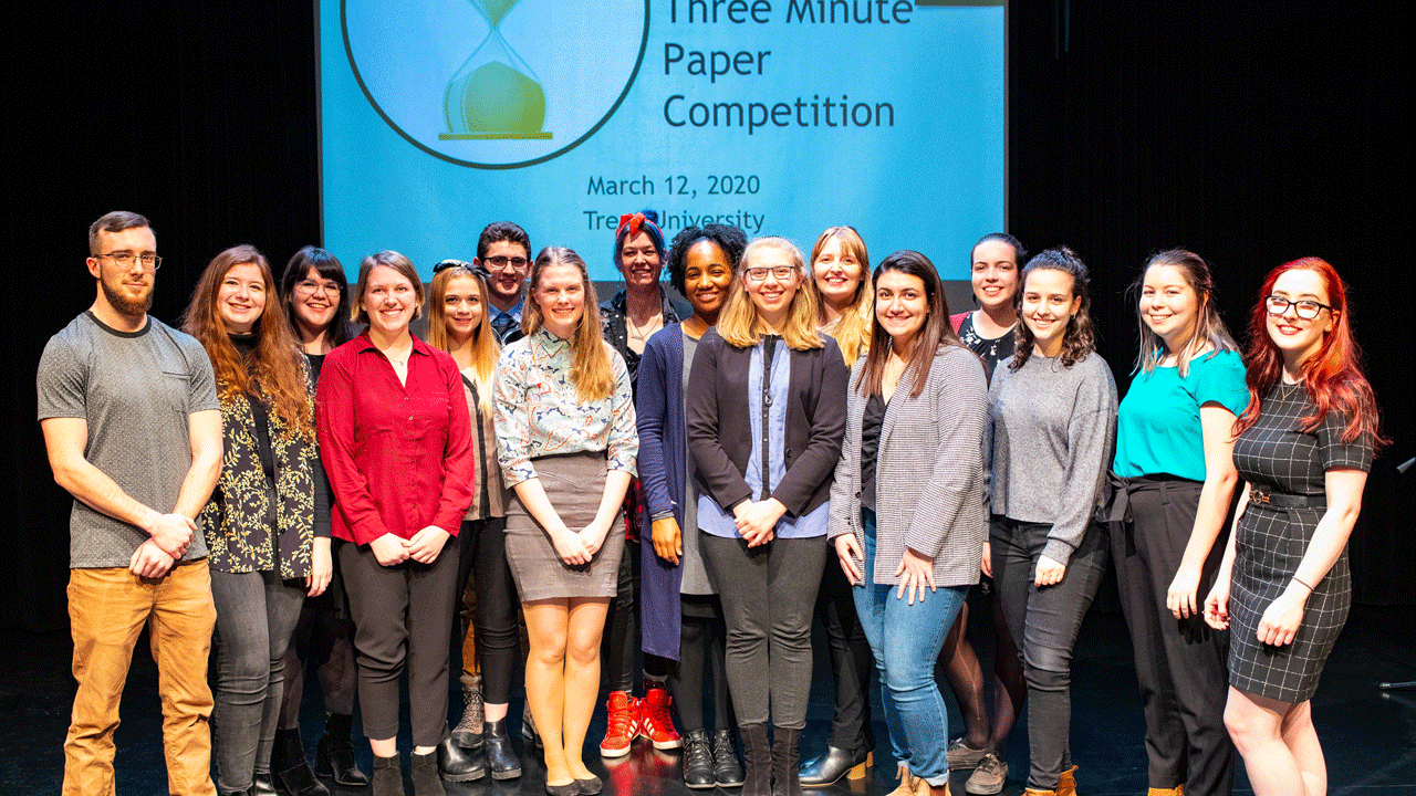 The sixth annual three minute paper competition.