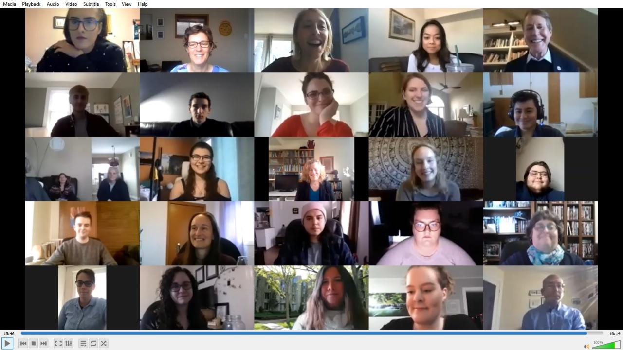 Screenshot of The Gzowski Awards Zoom conference.