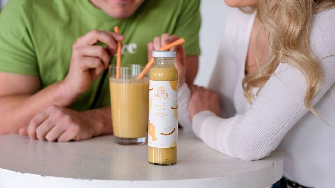 School of Business student Brooke Hammer's new product, Fruitful Smoothies.