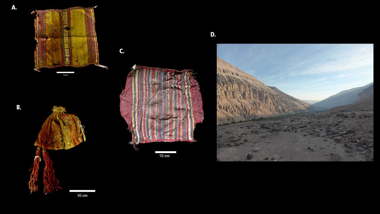Textiles made from the fiber of alpacas and llamas.
