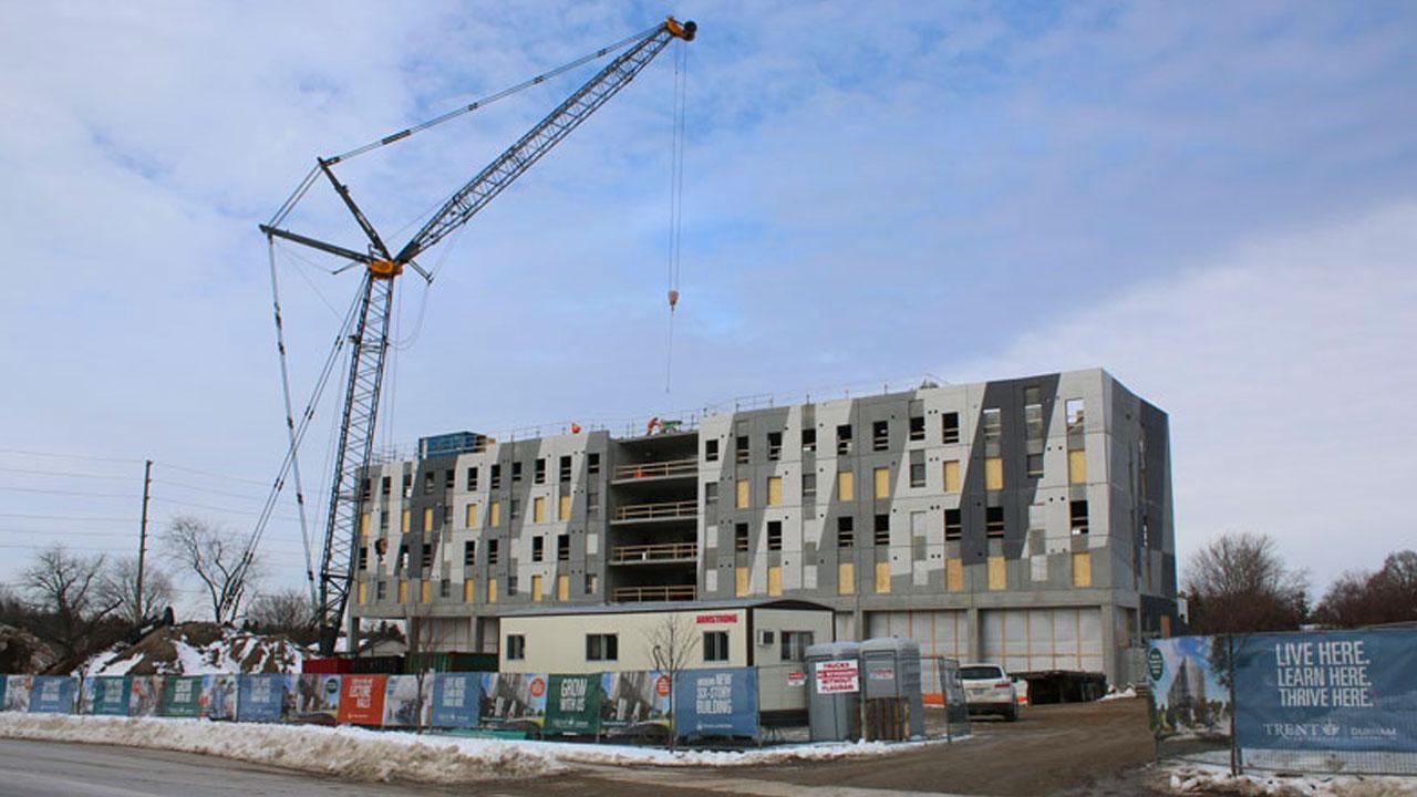 Construction underway at Trent University Durham GTA.