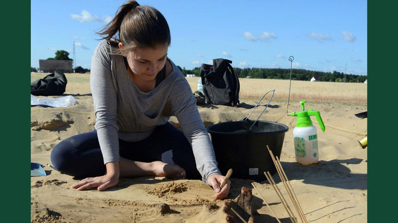 Courtney Willms joined an archaeological dig in Poland last summer, through an experiential learning opportunity with Trent University