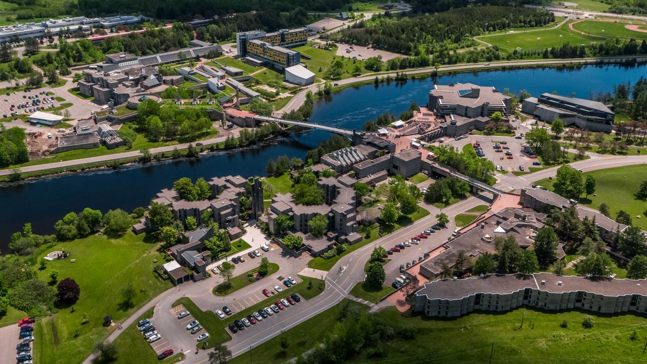 Aerial photograph of Trent's Peterborough Campus