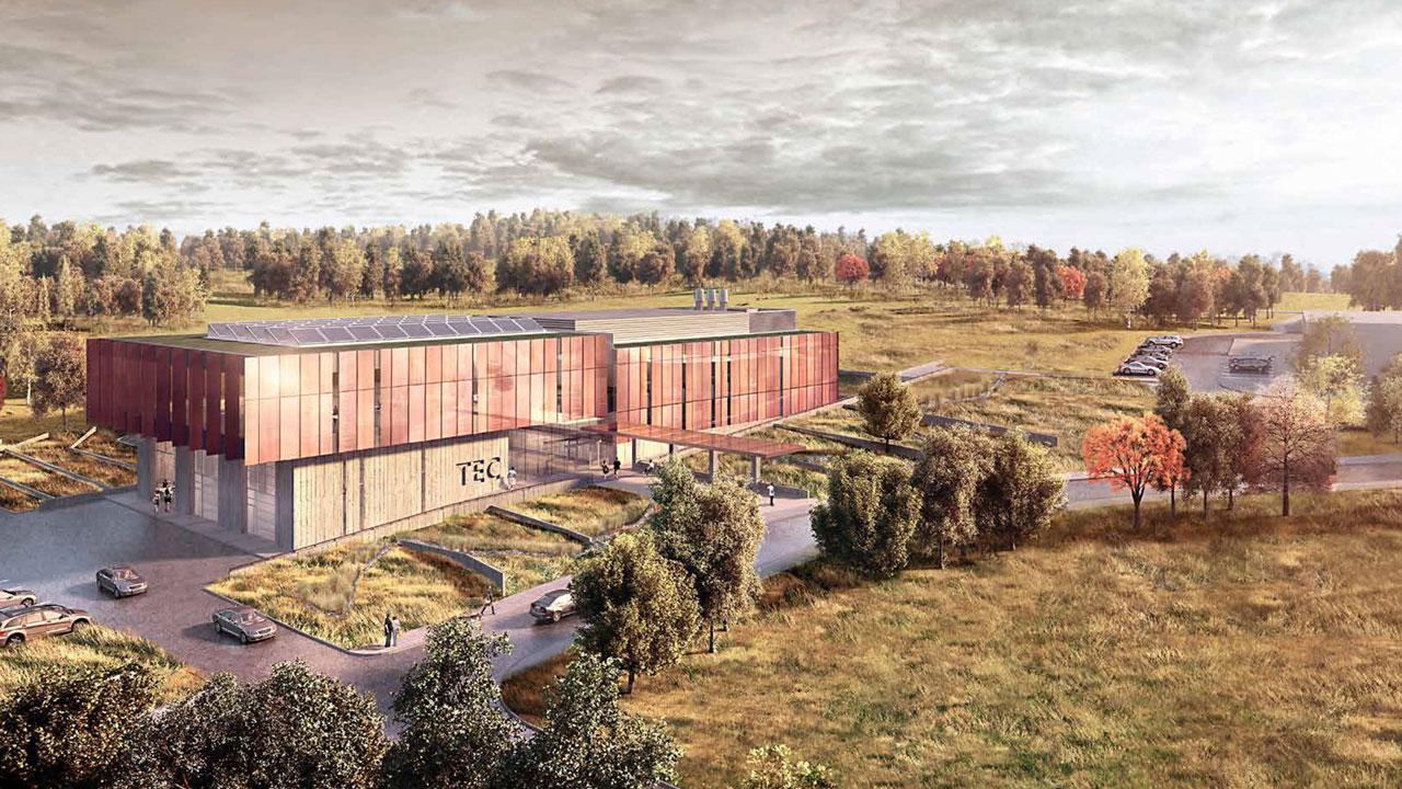 Artist rendering of the Trent Enterprise Centre.