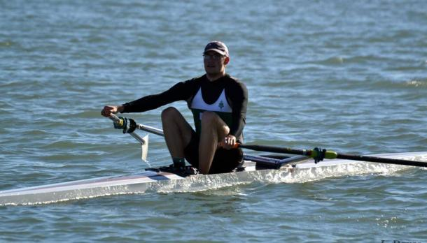 Graham Peeters rowing on a sunny afternoon