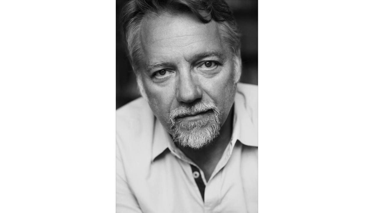 Black and white image of Edward Burtynsky