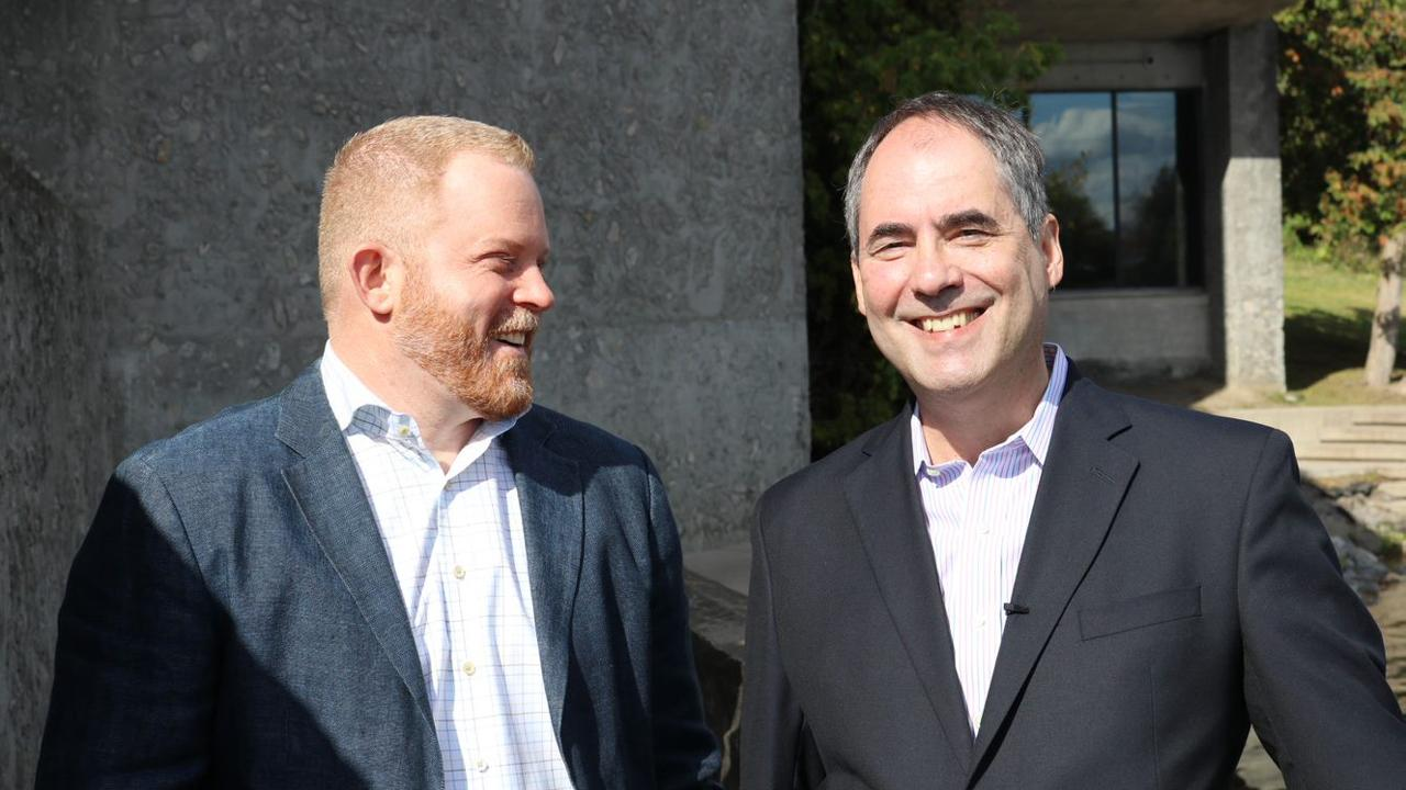 Dr. Mark Skinner, TCAS past Director, with Dr. Stephen Katz