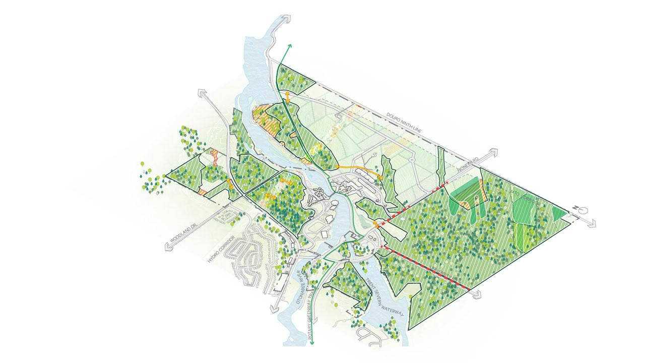 University Green Network (UGN) – a conceptual system intended to foster and support stewardship of the land across campus and deliver on Trent's commitment to maintain 60% of the campus as Nature Areas and greenspace