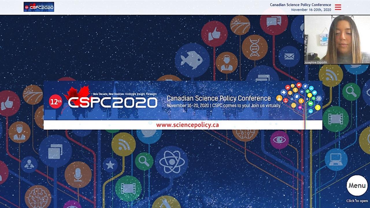 CSPC2020 - Canadian Science Policy Conference presentation by Josephine Esposito