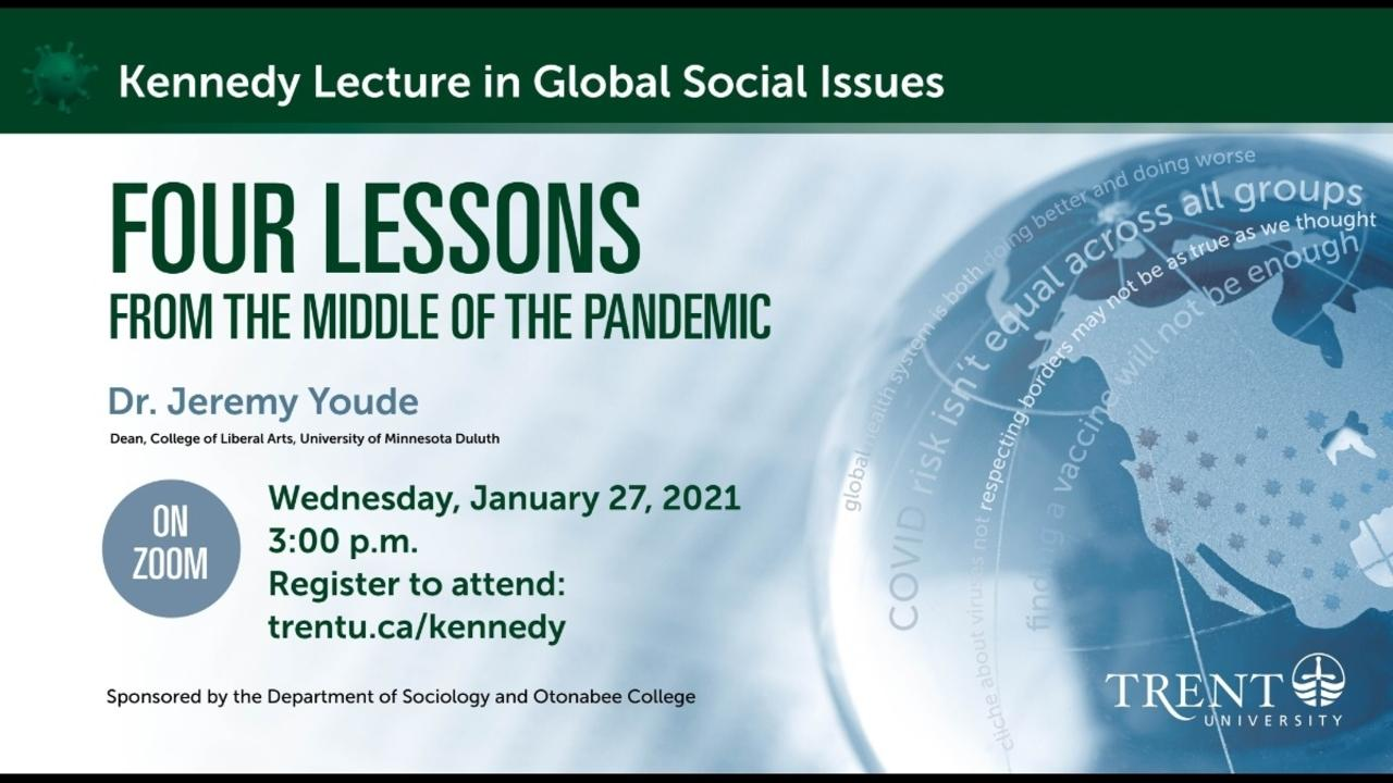 Four Lessons from the Middle of the Pandemic poster with registration details