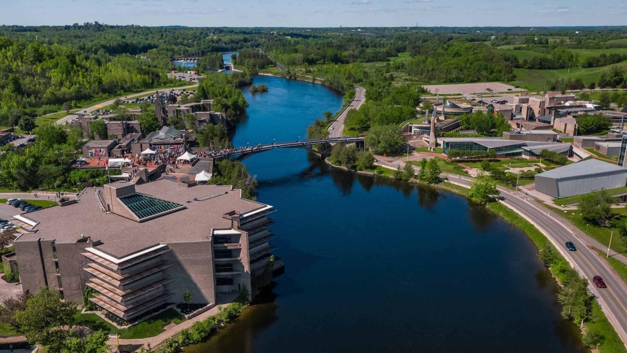 Aerial view of Trent University