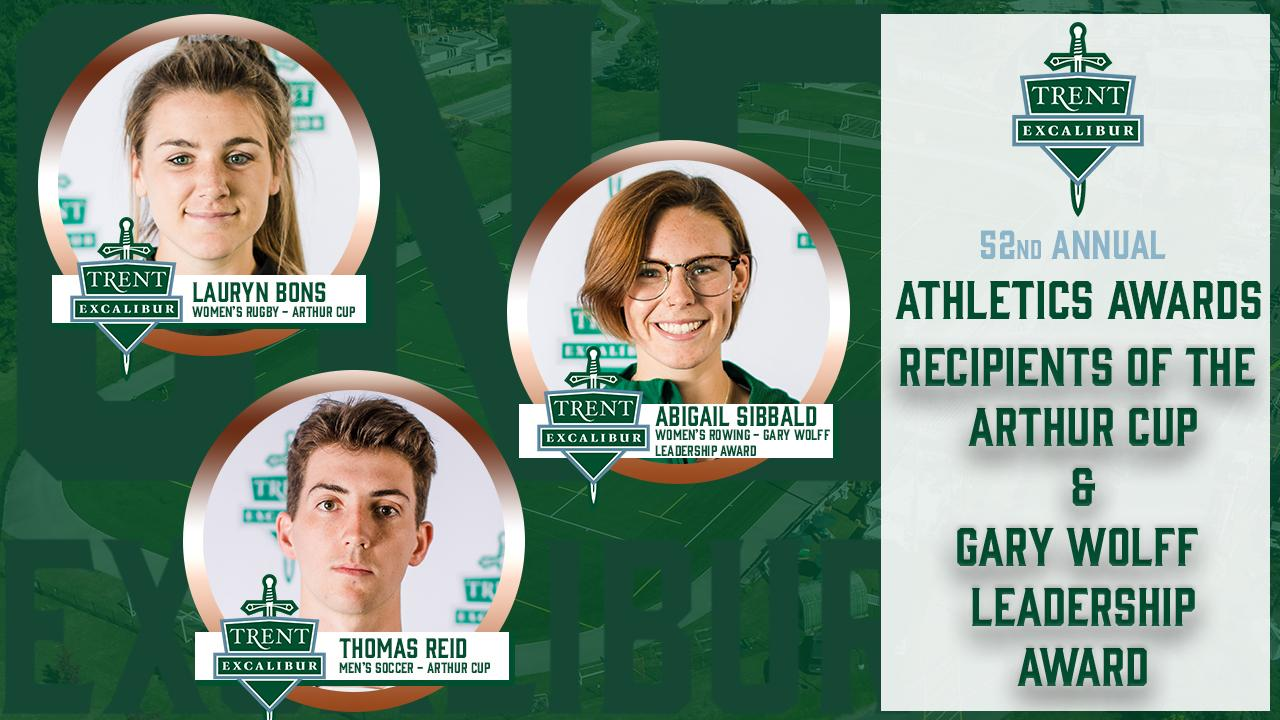 Athletics Awards Recipients of the Arthur Cup & Gary Wolff Leadership Award