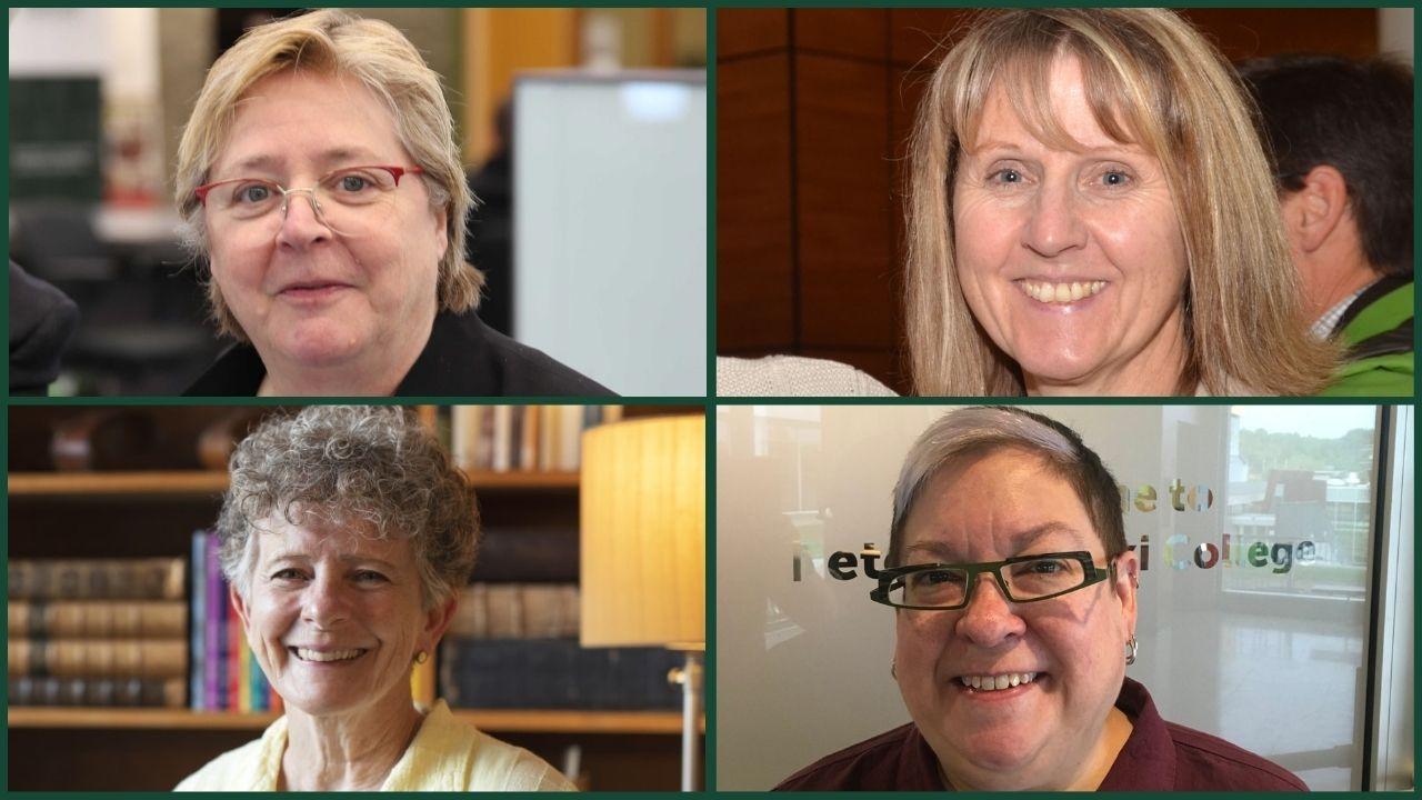 Clockwise headshots of Jackie Muldoon, Sue Robinson, Christy Carlson, Jodi Aoki