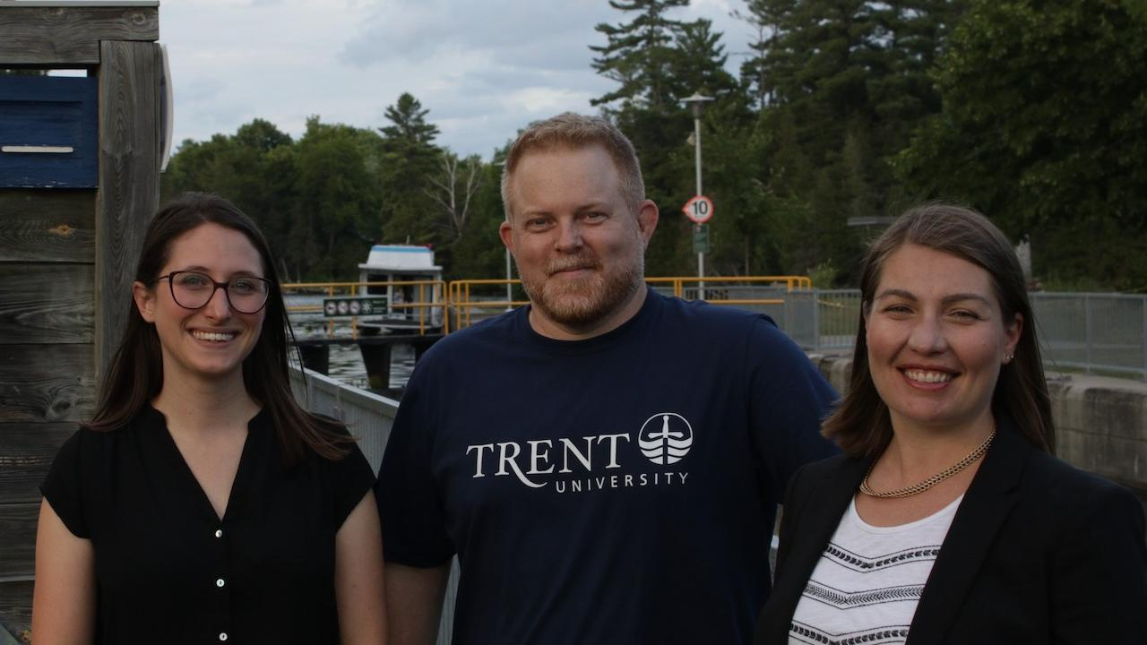 Dr. Mark Skinner, Dr. Elizabeth Russell and Amber Colibaba '10