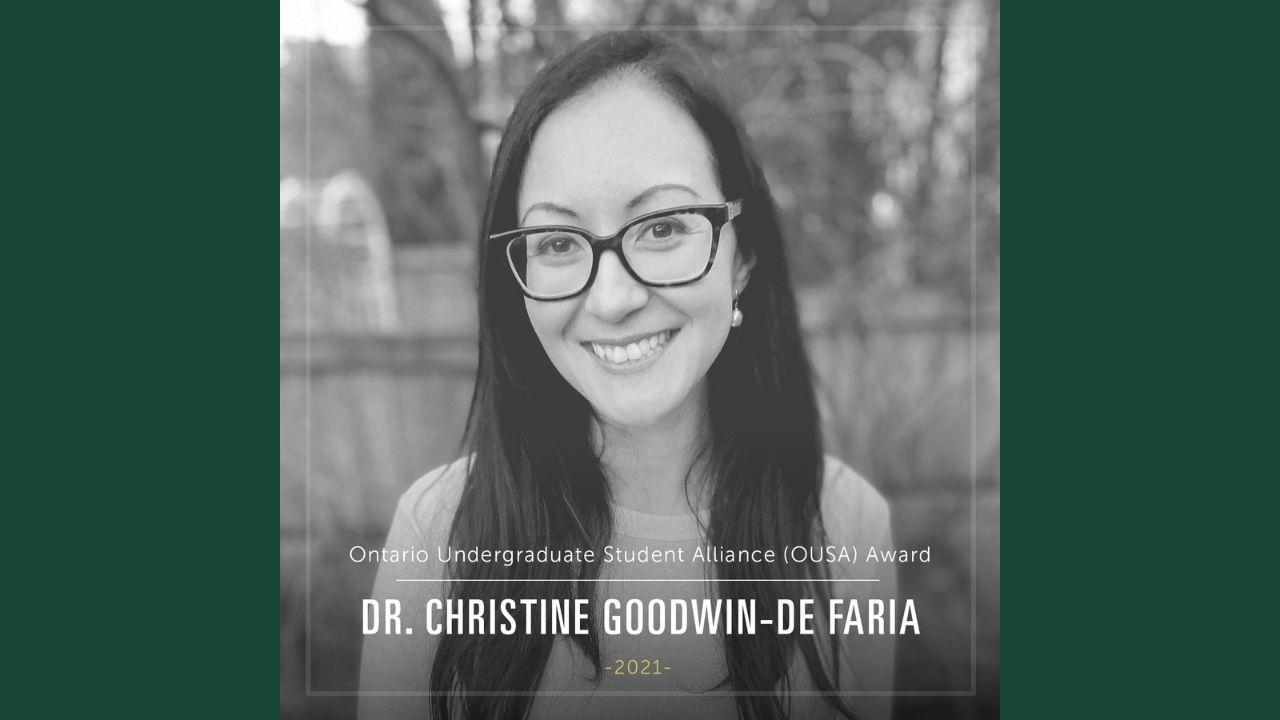 Dr. Christine Goodwin-De Faria