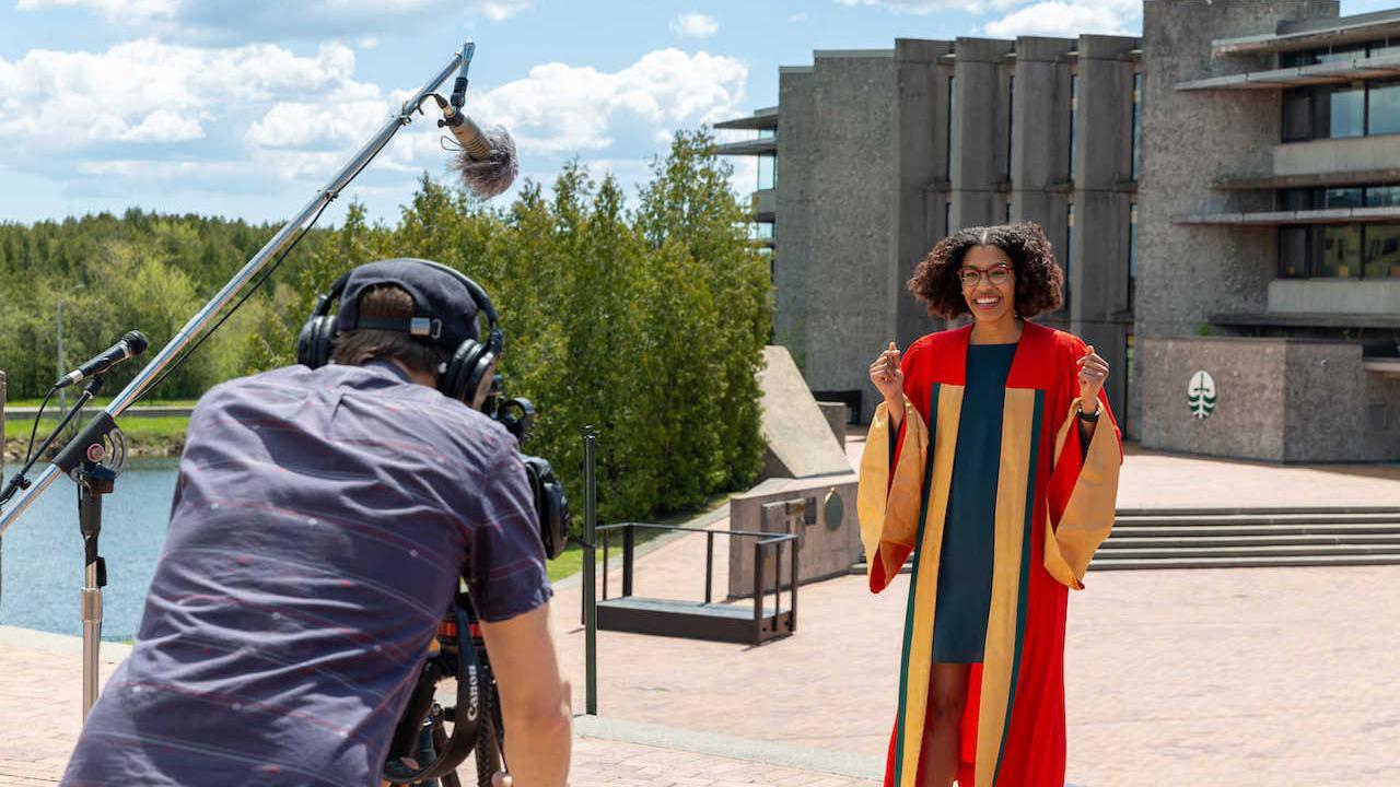 Trent Graduate Student Association President, Sandra Klemet N'Guessan