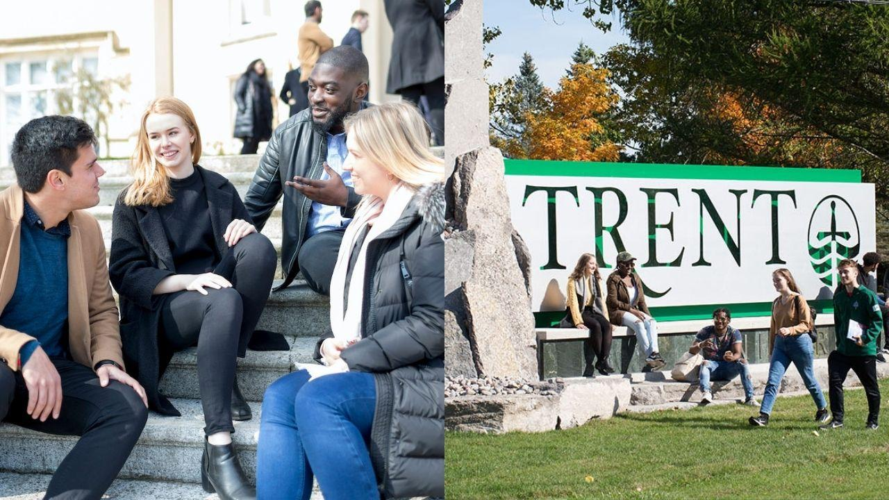 A collage of photos from both Trent and Swansea's campuses