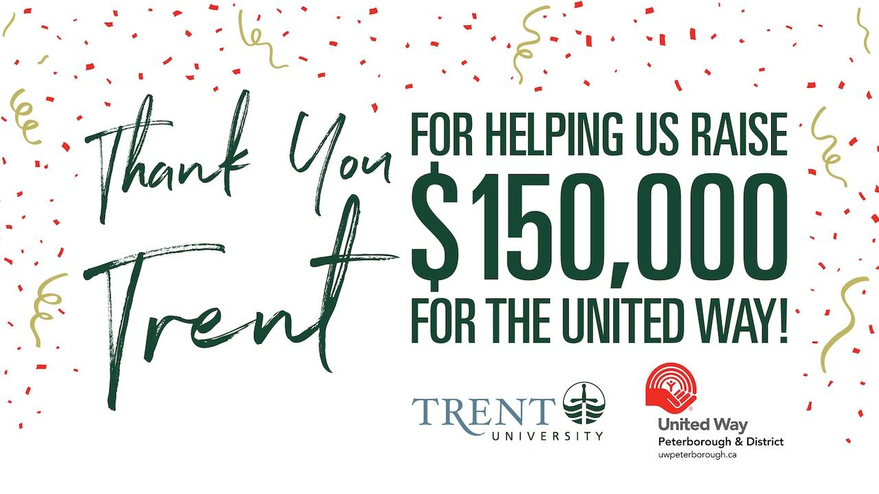 Thank you Trent for helping us raise $150,000 for the United Way!