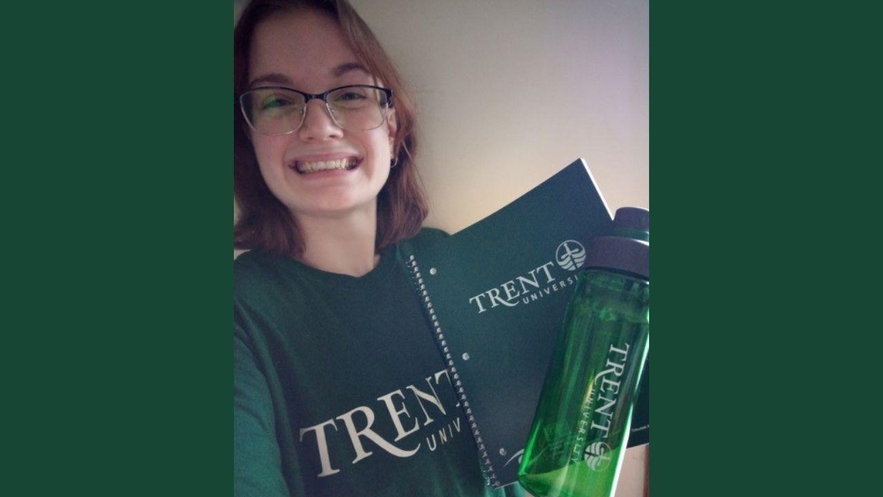 Jessica Livingstone holding Trent swag