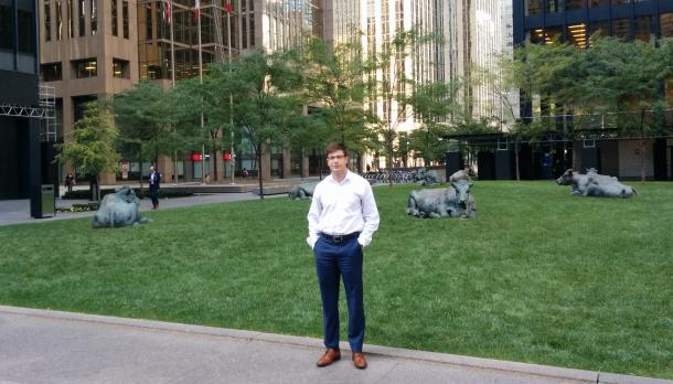 Brad Groenenberg standing in front of the TD Building