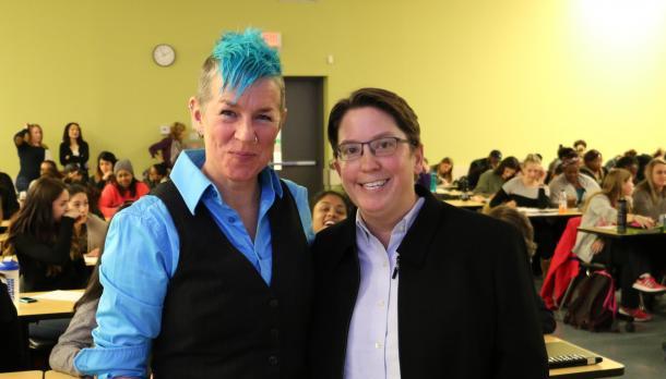 Toronto-based singer/songwriter Kate Reid and Trent University professor, Dr. Karleen Pendleton Jiménez