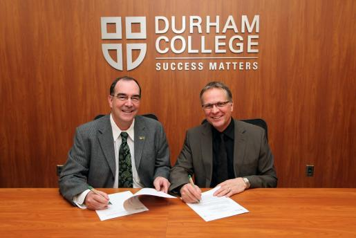 Durham College and Trent University sign new articulation agreement