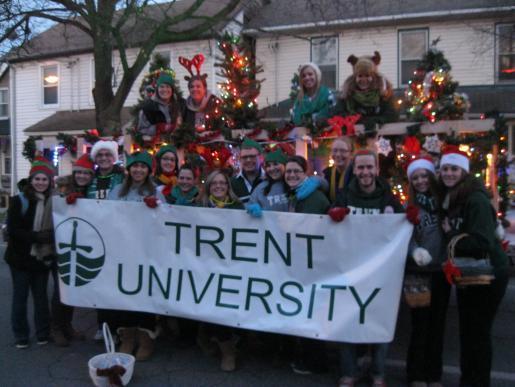 Trent Students Kick Off the Holiday Season in the Kinsmen Santa Claus Parade