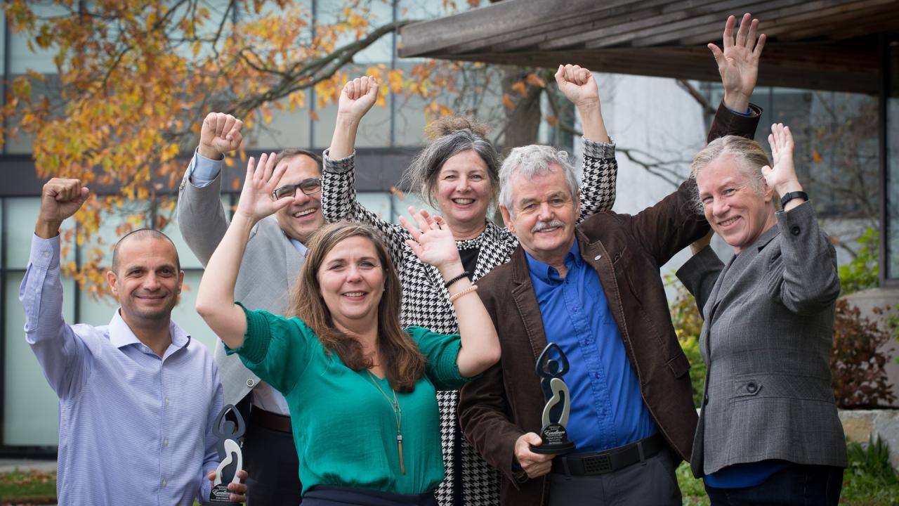 Trent leadership celebrate Chamber win