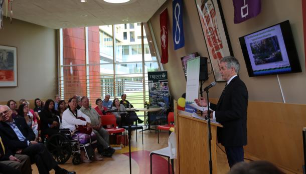At the event, Trent President Leo Groarke celebrated the milestone