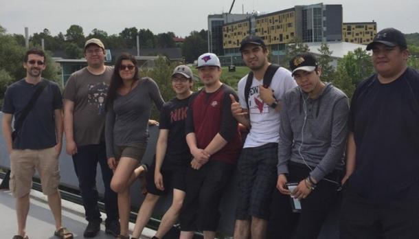 Eight Cree youth from the region east of James Bay who are participating in Katimavik's Indigenous Youth In Transition (IYIT) program