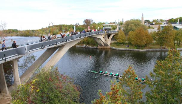 Rowers on the Otonabee at Head of the Trent