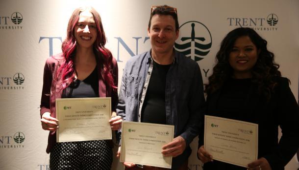 Award winners, Anastasia Nepotiuk, Chris Magwood, and Sumiko Polacco