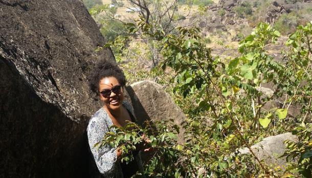 Claire Perttula hiking in Ghana