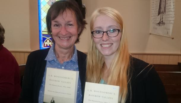 Dr. Rita Bode, associate professor of English Literature at Trent University Durham and Trent University Durham undergraduate student, Kristina Eldridge